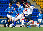 St Johnstone v Rangers....13.05.12   SPL.Liam Craig and Alejandro Bedoya.Picture by Graeme Hart..Copyright Perthshire Picture Agency.Tel: 01738 623350  Mobile: 07990 594431