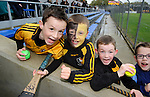 Young Clonlara fans before their senior county final against Ballyea at Cusack Park. Photograph by John Kelly.