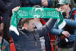 17.03.2019, BayArena, Leverkusen, GER, 1. FBL, Bayer 04 Leverkusen vs. SV Werder Bremen,<br />  <br /> DFL regulations prohibit any use of photographs as image sequences and/or quasi-video<br /> <br /> im Bild / picture shows: <br /> Fans Bremer <br /> <br /> Foto © nordphoto / Meuter