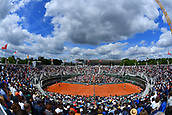 4th June 2017, Roland Garros, Paris, France; French Open tennis championships;  Court 1 roland Garros from above