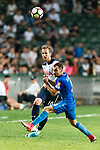 Tottenham Hotspur striker Harry Kane (L) in action against SC Kitchee Defender Daniel Cancela Rodriguez (R) during the Friendly match between Kitchee SC and Tottenham Hotspur FC at Hong Kong Stadium on May 26, 2017 in So Kon Po, Hong Kong. Photo by Man yuen Li  / Power Sport Images
