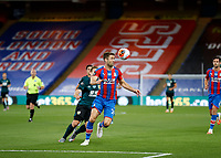 29th June 2020; Selhurst Park, London, England; English Premier League Football, Crystal Palace versus Burnley Football Club; Gary Cahill of Crystal Palace heads the ball out