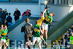 Adam Donoghue Kerry in action against Diarmuid Ryan Clare in the Munster Minor Quarter Final at Austin Stack Park Tralee on Wednesday night.