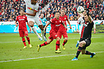 05.10.2019, BayArena, Leverkusen, GER, 1. FBL, Bayer 04 Leverkusen vs. RB Leipzig,<br />  <br /> DFL regulations prohibit any use of photographs as image sequences and/or quasi-video<br /> <br /> im Bild / picture shows: <br /> Christopher Nkunku (RB Leipzig #18),  macht das 1:1<br /> <br /> Foto © nordphoto / Meuter