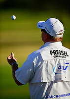 Barry &quot;Rock&quot; Cesarz, Morgan Pressels's Caddie plays on the range before practice starts  during the third round of the ANA Inspiration at the Mission Hills Country Club in Palm Desert, California, USA. 3/31/18.<br /> <br /> Picture: Golffile | Bruce Sherwood<br /> <br /> <br /> All photo usage must carry mandatory copyright credit (&copy; Golffile | Bruce Sherwood)during the second round of the ANA Inspiration at the Mission Hills Country Club in Palm Desert, California, USA. 3/31/18.<br /> <br /> Picture: Golffile | Bruce Sherwood<br /> <br /> <br /> All photo usage must carry mandatory copyright credit (&copy; Golffile | Bruce Sherwood)