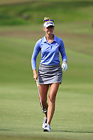 Jessica Korda (USA) in action on the 1st during Round 1 of the HSBC Womens Champions 2018 at Sentosa Golf Club on the Thursday 1st March 2018.<br /> Picture:  Thos Caffrey / www.golffile.ie<br /> <br /> All photo usage must carry mandatory copyright credit (&copy; Golffile | Thos Caffrey)
