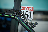 unique paintjob on Mark Cavendish's bike<br /> <br /> Tour de France 2013<br /> restday 2