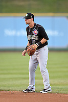 Kane County Cougars second baseman Danny Lockhart (7) during a game against the Peoria Chiefs on June 2, 2014 at Dozer Park in Peoria, Illinois.  Peoria defeated Kane County 5-3.  (Mike Janes/Four Seam Images)