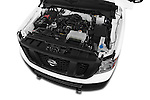Car Stock 2015 Nissan NV Cargo 2500 Standard Roof S V6 Door Cargo Van Engine high angle detail view