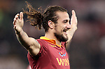 Calcio, Serie A: Roma vs Milan. Roma, stadio Olimpico, 22 dicembre 2012..AS Roma forward Pablo Daniel Osvaldo celebrates after scoring during the Italian Serie A football match between AS Roma and AC Milan at Rome's Olympic stadium, 22 December 2012.UPDATE IMAGES PRESS/Riccardo De Luca