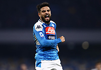 26th January 2020; Stadio San Paolo, Naples, Campania, Italy; Serie A Football, Napoli versus Juventus; Lorenzo Insigne of Napoli celebrates after scoring in the 86th minute for 2-0