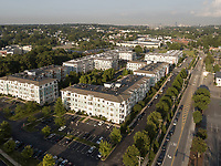 Watertown Mews apartment complex, Watertown, MA aerial