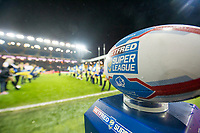 Picture by Allan McKenzie/SWpix.com - 08/02/2018 - Rugby League - Betfred Super League - Leeds Rhinos v Hull KR - Elland Road, Leeds, England - Betfred, Ball.