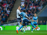 Tottenham's Christian Eriksen and Newcastle's Mohamed Diame  during the EPL - Premier League match between Tottenham Hotspur and Newcastle United at Wembley Stadium, London, England on 9 May 2018. Photo by Andrew Aleksiejczuk / PRiME Media Images.
