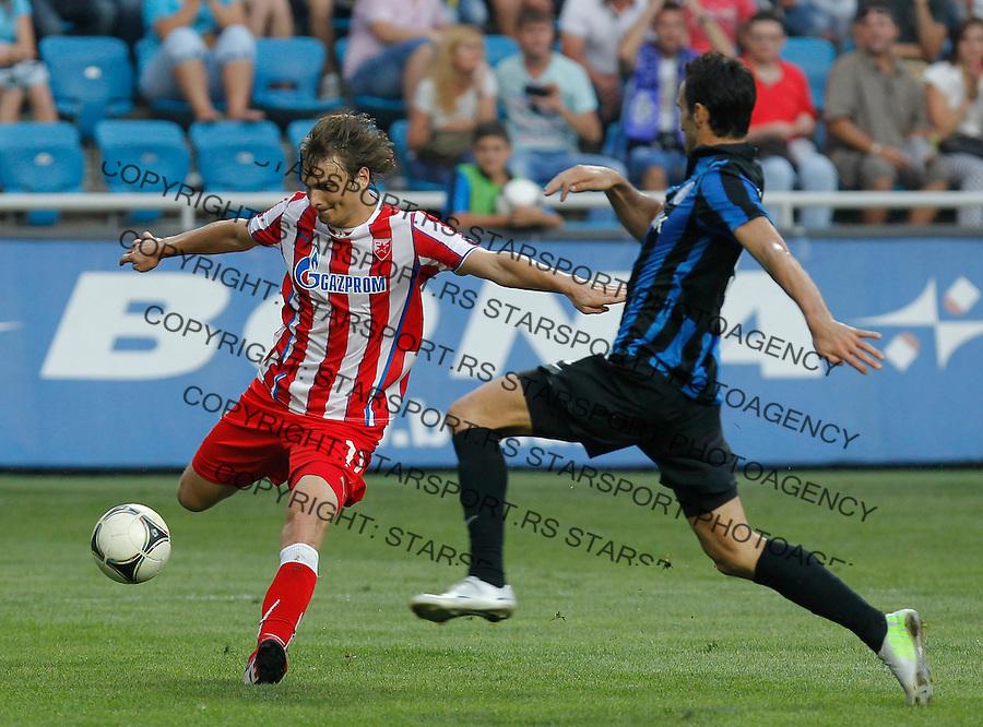 Fudbal UEFA Europa League season 2013-2014<br /> Cernomorec Vs. Crvena Zvezda<br /> Nejc Pecnik left<br /> Odessa, 02.08.2013.<br /> foto: Srdjan Stevanovic/Starsportphoto &copy;