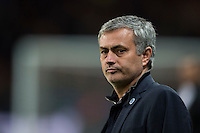 17.02.2015. Paris, France. Champions League football. Paris St Germain versus Chelsea.  Jose Mourinho manager (Chelsea) not pleased