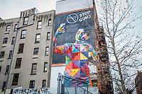 NOVA YORK, EUA - 30.11.2018 - ARTE-NOVA YORK - Mural Stop Guns do artista brasileiro Eduardo Kobra é visto na Ilha de Manhattan em Nova York (Foto Vanessa Carvalho / Brazil Photo Press)