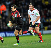 Watford, England. Alex Goode of Saracens in action during the Heineken Cup match between Saracens and Munster Rugby at the Vicarage Road on December 16, 2012 in Watford, England.