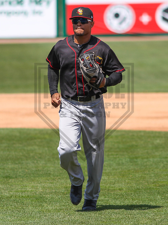 APPLETON - May 2015: Quad Cities River Bandits outfielder Jason Martin (16) during a game against the Wisconsin Timber Rattlers on May 2nd, 2015 at Fox Cities Stadium in Appleton, Wisconsin.  Quad Cities defeated Wisconsin 5-2.  (Brad Krause/Four Seam Images)