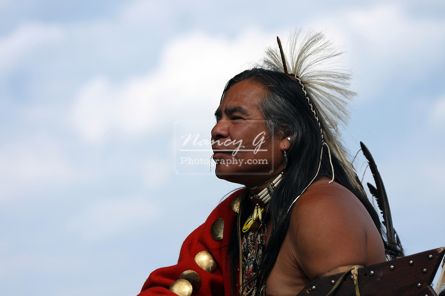 A Native American Indian man at a Pow Wow at the Milwaukee Lakefront Indian Summer Festival, Wisconsin