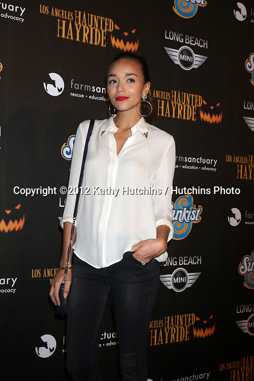 LOS ANGELES - OCT 7:  Ashley Madekwe arrives at the 4th Annual Los Angeles Haunted Hayride VIP Premiere Night at Griffith Park on October 7, 2012 in Los Angeles, CA