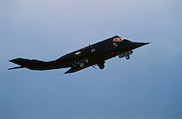 """- stealth fighter F 117 of the US Air Force on Aviano air base<br /> <br /> - caccia """"stealth"""" F 117 dell' US Air Force sulla base aerea USA di Aviano"""