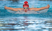 Lili-Fox Mason during the Final of the Women 100SC meter Butterfly Multi-Class, at the New Zealand Short Course Swimming Championships, National Aquatic Centre, Auckland, New Zealand, Friday 4th October 2019. Photo: Brett Phibbs/www.bwmedia.co.nz/SwimmingNZ