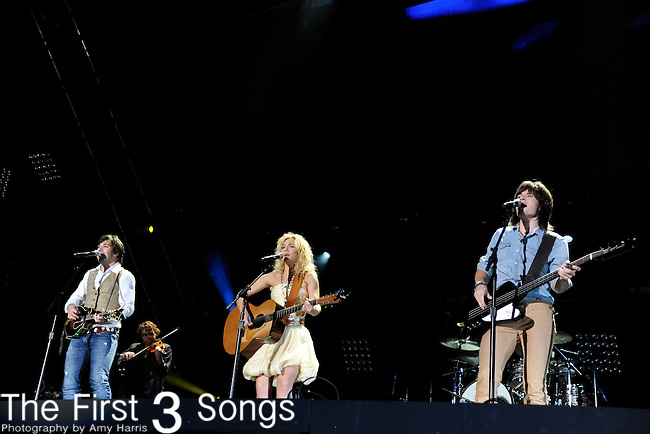 Neil Perry, Kimberly Perry, and Reid Perry of The Band Perry perform at LP Field during the 2011 CMA Music Festival on June 12, 2011 in Nashville, Tennessee.