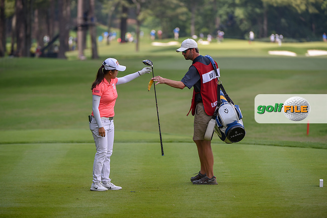 Wei-Ling Hsu (TPE) after her tee shot on 10 during round 4 of the U.S. Women's Open Championship, Shoal Creek Country Club, at Birmingham, Alabama, USA. 6/3/2018.<br /> Picture: Golffile   Ken Murray<br /> <br /> All photo usage must carry mandatory copyright credit (© Golffile   Ken Murray)