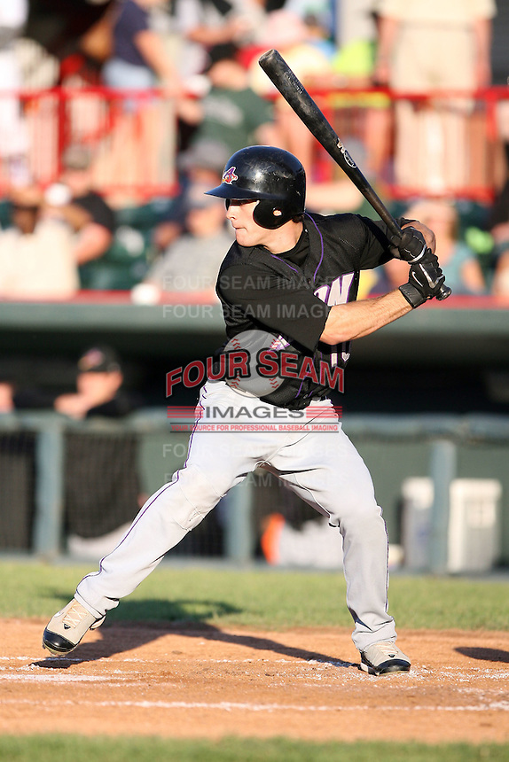 June 30th 2007: Trevor Crowe of the Akron Aeros, Class-AA affiliate of the Cleveland Indians in a game versus the Erie Seawolves at Jerry Uht Park in Erie, PA.  Photo by:  Mike Janes/Four Seam Images