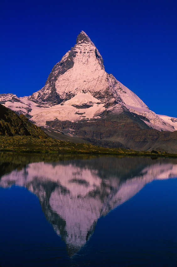 The Matterhorn (Riffelseee in front), near Zermatt, Switzerland