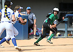Rancho's Jazmin Gonzalez gets in caught in a pickle during a NIAA DI softball game against Reed at the University of Nevada, in Reno, Nev., on Thursday, May 19, 2016. Reed wo 2-0. Cathleen Allison/Las Vegas Review-Journal