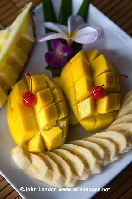Tropical fruit plate in the Philippines - Food in the Visayas means either one of two things: seafood fresh from the sea or locally grown tropical fruit that grows in abundance in the tropical climate. Not only is it healthy but it's cheap.