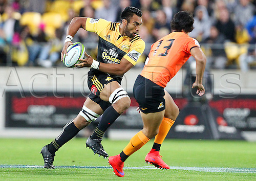 09.04.2016. Wellington, New Zealand.  Hurricanes' Victor Vito during the Round 7 Super Rugby match, Hurricanes  versus Jaguares at Westpac Stadium, Wellington. 9th April 2016.