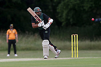 H Afzal of Harold Wood during Gidea Park and Romford CC vs Harold Wood CC, Shepherd Neame Essex League Cricket at Gidea Park Sports Ground on 6th July 2019