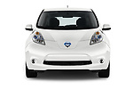 Car photography straight front view of a 2017 Nissan Leaf SL 5 Door Hatchback