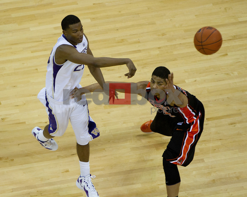 C.J. Wilcox. UW Mens basketball vs. Oregon State.  Photo by Rob Sumner / Red Box Pictures.