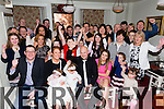 Celebrating the christening of their baby girl Georgia were parents Grace Hobbert and Ricky O Halloran from Cluain Ard Tralee with family and friends at the Brogue inn on Saturday.Baby Georgia was christened in St Brendans church by FR Patsy Lynch