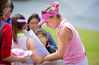 Lexi Thompson (USA) signs autographs for young fans following her round 3 of  the Volunteers of America Texas Shootout Presented by JTBC, at the Las Colinas Country Club in Irving, Texas, USA. 4/29/2017.<br /> Picture: Golffile | Ken Murray<br /> <br /> <br /> All photo usage must carry mandatory copyright credit (&copy; Golffile | Ken Murray)
