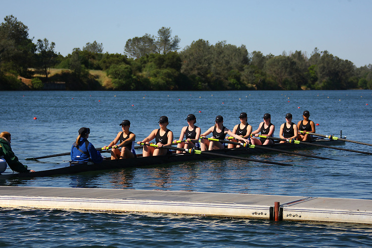 April 29, 2011; Gold River, CA, USA; Creighton Bluejays Eight II during the WCC Rowing Championships at Lake Natoma.