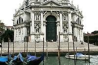 Dettaglio della facciata della Basilica di Santa Maria della Salute, a Venezia.<br /> Detail of the facade of the Basilica Santa Maria della Salute (St. Mary of Health) in Venice.<br /> UPDATE IMAGES PRESS/Riccardo De Luca