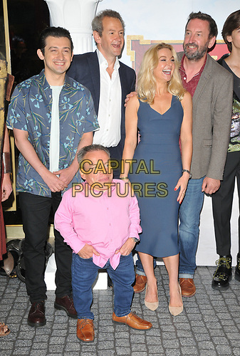 """Craig Roberts, Warwick Davis, Alexander Armstrong, Sarah Hadland and Lee Mack at the """"Horrible Histories: The Movie - Rotten Romans"""" world film premiere, Odeon Luxe Leicester Square, Leicester Square, London, England, UK, on Sunday 07th July 2019.<br /> CAP/CAN<br /> ©CAN/Capital Pictures"""