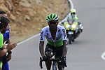 Nicholas Dlamini (RSA) Team Dimension Data on the final Cat 1 climb up to Observatorio Astrofisico de Javalambre during Stage 5 of La Vuelta 2019 running 170.7km from L'Eliana to Observatorio Astrofisico de Javalambre, Spain. 28th August 2019.<br /> Picture: Eoin Clarke | Cyclefile<br /> <br /> All photos usage must carry mandatory copyright credit (© Cyclefile | Eoin Clarke)