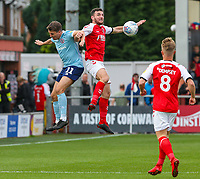 Fleetwood Town's Lewis Coyle battles with Accrington Stanley's Sean McConville<br /> <br /> Photographer Alex Dodd/CameraSport<br /> <br /> The EFL Sky Bet League One - Fleetwood Town v Accrington Stanley - Saturday 15th September 2018  - Highbury Stadium - Fleetwood<br /> <br /> World Copyright &copy; 2018 CameraSport. All rights reserved. 43 Linden Ave. Countesthorpe. Leicester. England. LE8 5PG - Tel: +44 (0) 116 277 4147 - admin@camerasport.com - www.camerasport.com