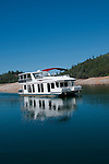 Shasta region of Northern California: Houseboat on Lake Shasta.Photo copyright Lee Foster.  Photo # california-houseboat-lake-shasta-cashas105071