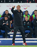 Liverpool Manager Jurgen Klopp during the football league cup Carabao Cup 3rd round match between Leicester City and Liverpool at the King Power Stadium, Leicester, England on 19 September 2017. Photo by Andy Rowland.
