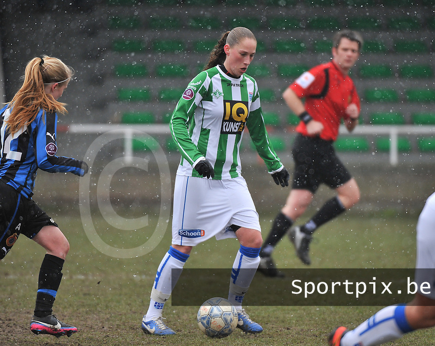 Club Brugge Dames - PEC Zwolle : Judith Frijlink .foto DAVID CATRY / Vrouwenteam.be