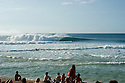 Surfer during the Billabong Pipeline Masters on the Northshore of Oahu in Hawaii.