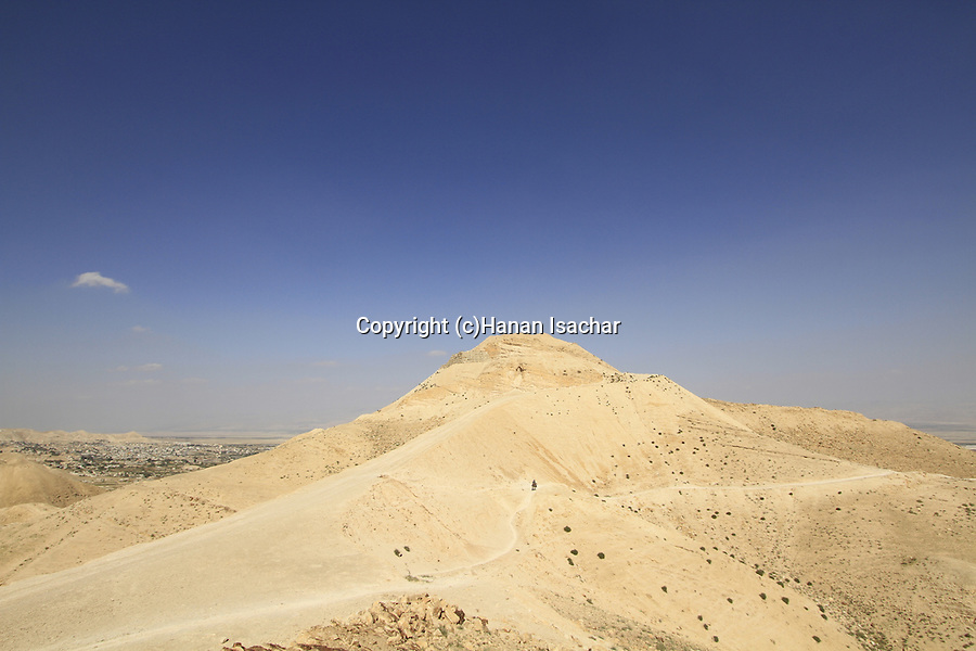 A view of Kypros in the Judean Desert, site of King Herod's palace and fortress, overlooking Jericho and the Jordan Valley