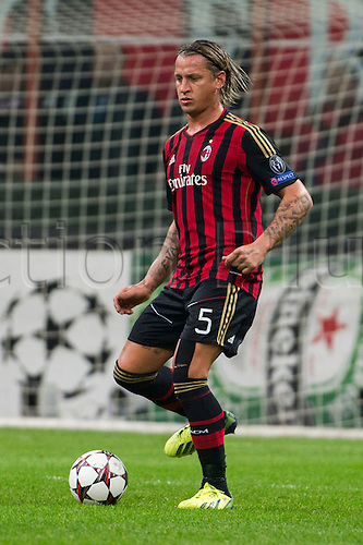 22.10.l2013. Milan, Italy. UEFA Champions League football. AC Milan versus FC Barcelona. Group stages. Philippe Mexes (Milan),  at Stadio Giuseppe Meazza in Milan, Italy.